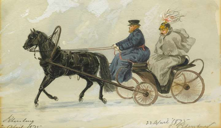 An Officer in a Horse-Drawn Carriage, St. Petersburg